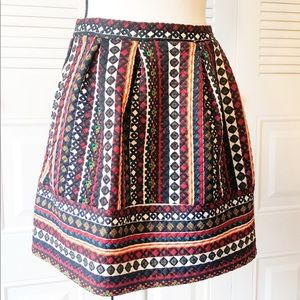 Xhilaration Print Pleated Skirt